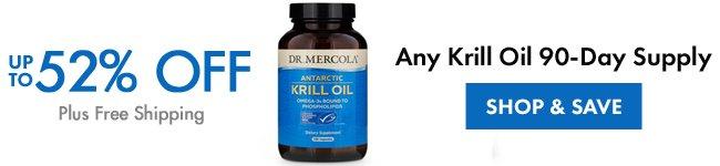 Obtenez jusqu'à 52% de rabais sur tout approvisionnement en 90 jours d'huile de Krill