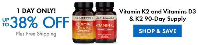 Obtenez jusqu'à 38% de réduction sur Vtamin K2 et les vitamines D3 et K2